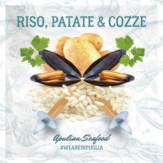 Riso, patate & cozze Apulian Seafood #weareinpuglia Social poster design 2017