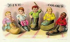 Five Colors cigar box label