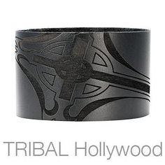SACRED Mens Leather Wrist Cuff Bracelet with Celtic Cross design. The wide leather bracelet is made of high quality, genuine black leather or brown leather and has a three dimensional, laser etched Celtic Cross design around the outside of the cuff. Leather Cuffs, Leather Jewelry, Black Leather, Black Metal, Cross Jewelry, Men's Jewelry, Tribal Jewelry, Silver Jewelry, Jewellery