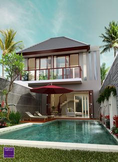 Evermotion portfolio by Khatibul Umam Ahmad Fauzi is part of Modern house design - Home Room Design, Dream Home Design, Modern House Design, Rest House, House On A Hill, Asian House, Dream Mansion, Lakefront Homes, Duplex House