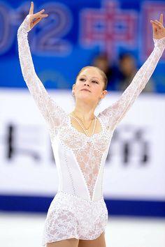 Yulia Lipnitskaya - White Figure Skating / Ice Skating dress inspiration for Sk8 Gr8 Designs.