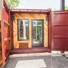 You know the shipping container home trend really has hit a peak when you build matching shipping container guest houses to match the existing duplex! This
