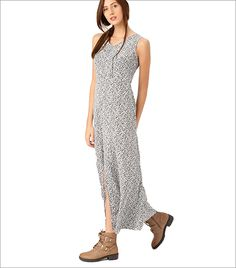 DressBerry Women Off-White Printed Maxi Dress