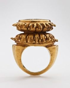 Lotus Ring. Java. Central Javanese Period, 8th – early 10th century. Repoussé gold.