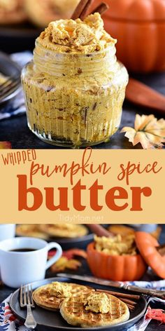 Pumpkin Spice Butter Spread has all your favorite fall spices whipped into a creamy fluffy honey butter for bread, waffles, pancakes and more. Print the full recipe at TidyMom.net #pumpkin #pumpkinspice #honeybutter via @tidymom