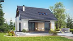 Z304 to elegancki domek o spokojnej bryle. Wyróżnia się starannym wykończeniem oraz przemyślanym układem pomieszczeń.