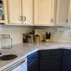 Ez Faux Decor Self Adhesive Decorative Peel and Stick Countertops Marble Contact Paper Countertop NO Paint! Peel And Stick Countertop, Countertop Covers, Countertop Makeover, Laminate Cabinet Makeover, Kitchen On A Budget, Diy Kitchen, Kitchen Decor, Kitchen Ideas, Kitchen Designs