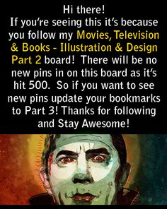 No new pins in this board! Please update your bookmarks to Part 3 if you want to keep up with my Movie Pins! Thanks for following, you all rock :)