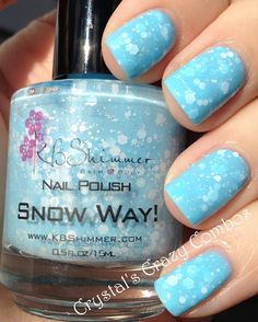 Crystal's Crazy Combos: KBShimmer - Snow Way!