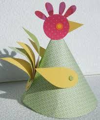 bricolage poule de paques maternelle