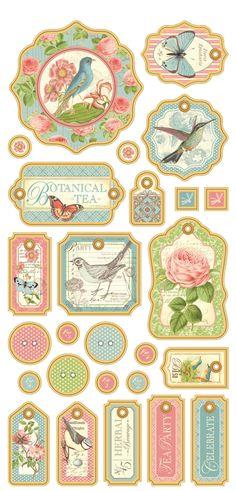 Scrapbook Stickers, Scrapbook Paper Crafts, Scrapbook Albums, Scrapbooking, Vintage Tags, Vintage Ephemera, Sewing To Sell, Bullet Journal Books, Decoupage Vintage