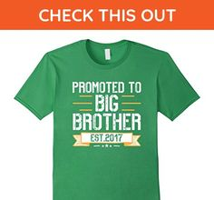 Mens Promoted To Big Brother Est 2017 T Shirt 3XL Grass - Relatives and family shirts (*Amazon Partner-Link)