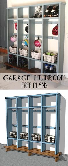 """Find out even more info on """"laundry room storage diy shelves"""". Have a look at ou. Find out even more info on """"laundry room storage diy shelves"""". Have a look at our website. Mudroom, Diy Storage, Garage Floor Paint, Garage Storage Organization, Diy Cubbies, Mud Room Garage, Room Storage Diy, Kids Garage, Mudroom Cubbies"""