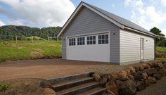 weatherboard garage gable end, high,