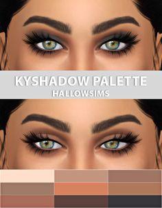 HALLOWSIMS KYSHADOW PALETTE- For Females; - 9 colors: Jasper, Quartz, Topaz, Goldstone, Citrine, Tiger Eye, Hematite, Bronzite, Obsidian. - Teen/Young Adult/Adult/Elder; - Custom thumbnail; - Smooth texture;2048&4096 Download the palette...