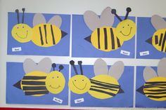 Cute bee craft for my busy bee classroom Insect Crafts, Bug Crafts, Kindergarten Art, Preschool Activities, Jolly Phonics, Cute Bee, Bee Art, Spring Activities, Bugs And Insects