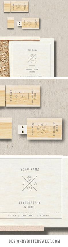 USB templates for professional photographers. Branding and marketing materials for wedding photography.