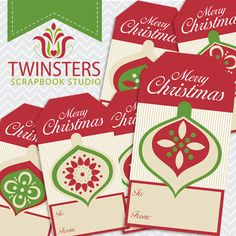 Printable Christmas tags png TW038 by Twinsters on Etsy, $2.50