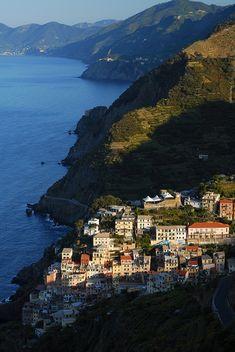 Along Riomaggiore, Cinque Terre - Italy