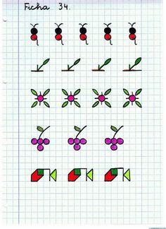 Graph Paper Art, Art Graphique, Kids Education, Cross Stitch Designs, Pattern Art, Art School, Art Sketchbook, Mandala Art, Arts And Crafts