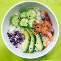 Je mange en décalé mais je mange #healthy : poke bowl chez Dubble ! Y'a que du bon dedans  #repas #midi #lunch #pokebowl #healthyfood #healthylife #miam #food #restaurant #dubble #dubblefood