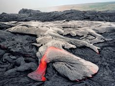 Got within 5 feet of Kilauea and her downward flow....smokin hot