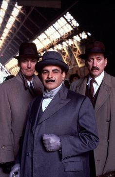 "Captain Hastings, Hercule Poirot and Chief Inspector James Japp in ""Agatha Christie's Poirot"" (TV Series 1989– )."
