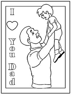 Fathers Day Coloring Page