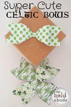 Super Cute Celtic Bow Printable!  Wrap some chocolate gold coins up and top them off with this Super Cute Celtic Bow!