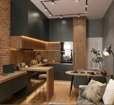 Kitchen Room Design, Home Room Design, Kitchen Cabinet Design, Modern Kitchen Design, Home Decor Kitchen, Interior Design Kitchen, Kitchen Living, Kitchen Furniture, New Kitchen