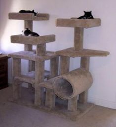 Do it yourself cat furniture plans woodworking projects for Cat climber plans