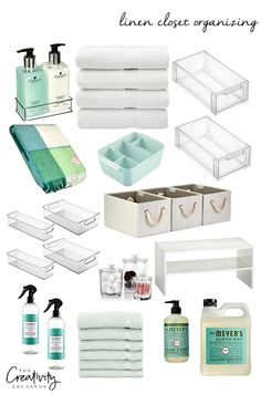 Linen Closet Organizing: Create More Storage - Innenarchitektur Bedroom Closet Storage, Linen Closet Organization, Home Organisation, Small Bathroom Storage, Container Organization, Bathroom Closet, Laundry Room Storage, Bathroom Organization, Storage Containers