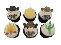 12 EDIBLE SHERIFF COWBOY  Cupcake Toppers  by incrEDIBLEtoppers, $10.00