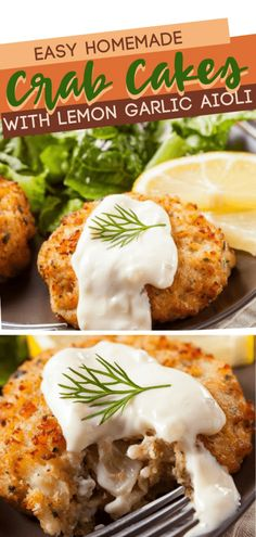 A fast and simple recipe you could make in a snap! These homemade crab cakes with lemon garlic aioli recipe are so easy, you could teach your kids to make it. Save this pin for later! Easy Homemade Crab Cakes With Lemon Garlic Aioli A Southern Soul Homemade Crab Cakes, Crab Cake Recipes, Fish Recipes, Seafood Recipes, Cooking Recipes, Dinner Recipes, Canned Crab Recipes, Crab Cakes Recipe Best, Lemon Recipes