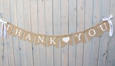 Thank You Burlap Banner, Thank you with heart banner,  Wedding sign, Photography prop - garland on Etsy, $28.00