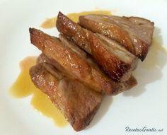 Lomo de cerdo acaramelado al horno