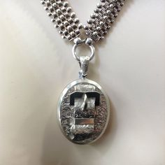 Really pleased to have found this bookchain to go with the locket  Both bits are in perfect condition  Real Victorian Sterling silver