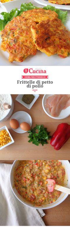 Frittelle di petto di #pollo della nostra utente Magdalena. Unisciti alla nostra Community ed invia le tue ricette!