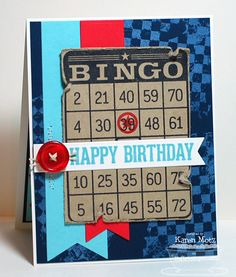 Bingo happy birthday card for a boy
