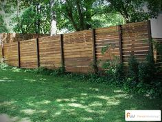 The Skyline™ Horizontal Board Wood Privacy Fence | Pictures & Per Foot Pricing