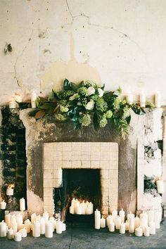 Old Mantle With Green And Ivory  / 2 Weeks until Christmastime . . . :: This is Glamorous