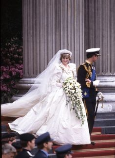 The beautiful, wonderful Lady Princess Diana at their royal wedding to Prince Charles in 1981.