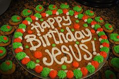 Candace's Cookie Creations: Happy Birthday Jesus! Cookie Cakes