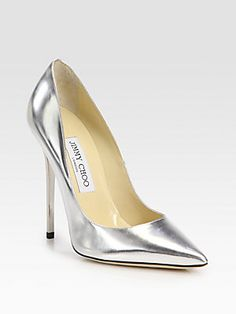 Jimmy Choo Anouk Metallic Leather Pumps $650.00  If they would move that decimal point just one spot to the left I would get these for sweet baby girl, Krista.  Sorry, KB no Jimmy Choo's for you