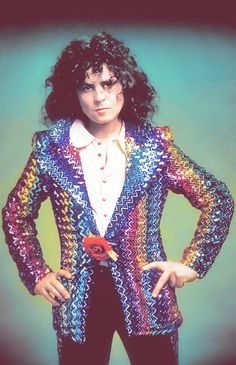 Marc Bolan T Rex From the iconic Biba jacket photo shoot. Rock Hall Of Fame, Children Of The Revolution, Marc Bolan, Twist And Shout, Music Pics, Punk, Glamour, 70th Birthday, Glam Rock