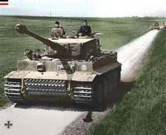 WW2 SGM Tiger I to the Schwere SS-Panzer-Abteilung 101.  June 1944 in France.