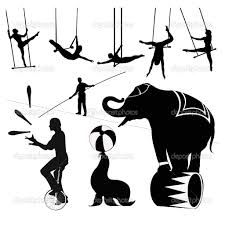 vintage circus silhouette - Google Search