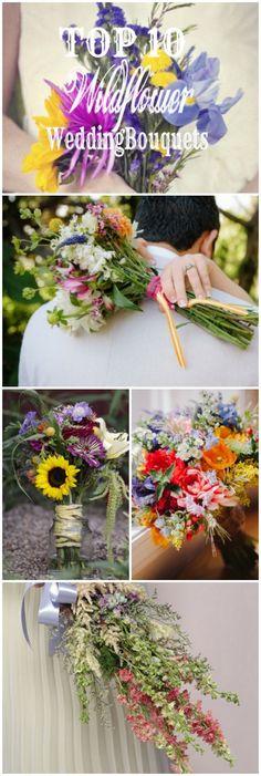 The Best Wildflower Wedding Bouquets