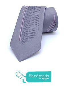 "Grey, pink dotted and striped men's tie 6 cm (2,36"") SL-351 from Nazo Design https://www.amazon.com/dp/B01FKMKFRK/ref=hnd_sw_r_pi_dp_rUA5xbCMKPYS6  #handmadeatamazon #nazodesign"