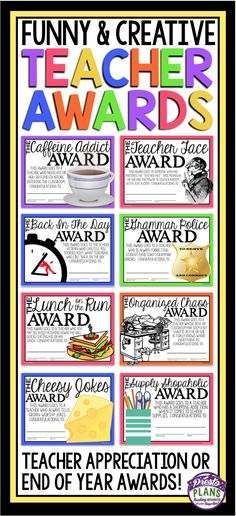 End of the year awards for teachers